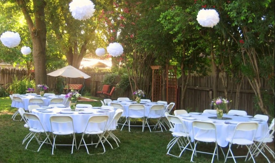 wedding ceremony in the backyard